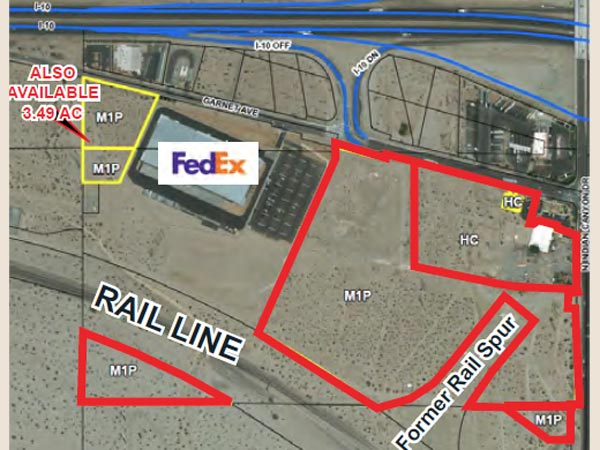40.92 AC Industrial Land, Palm Springs, CA