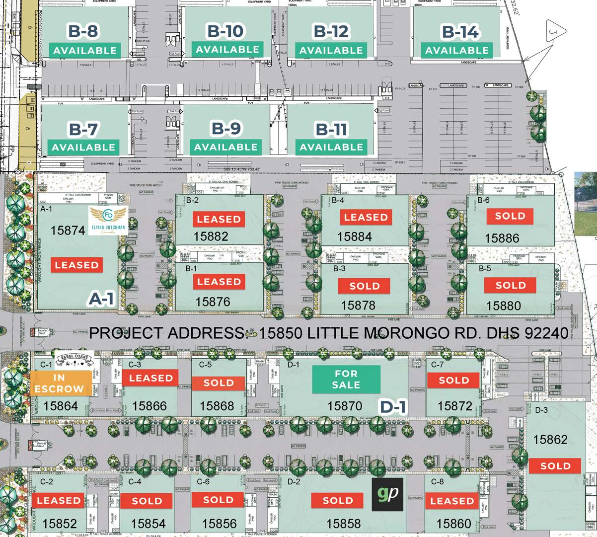 site plan of phase 3 morongo industrial park