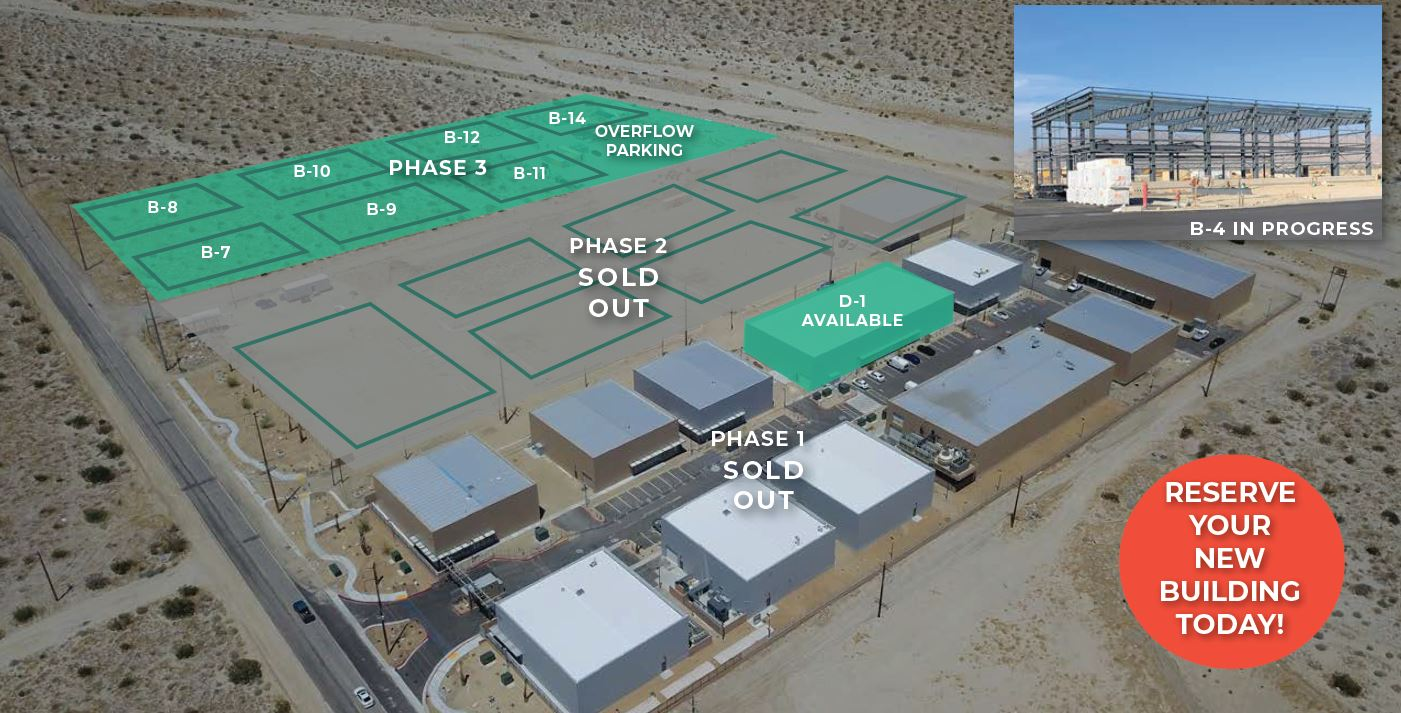 aerial map of phase 3 morongo industrial park