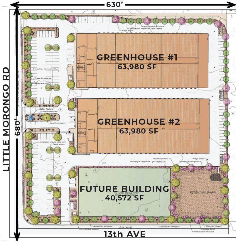 floor plan of 9.27 acres of land for sale at little morongo desert hot springs california