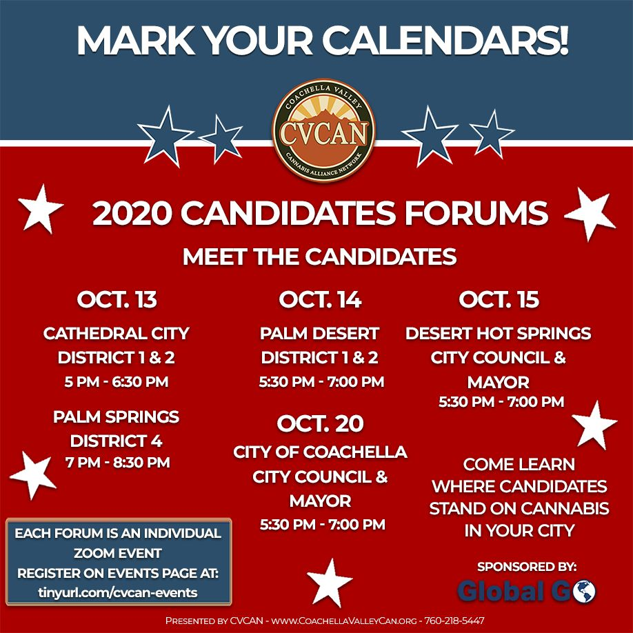 CVCAN Announces 2020 Cannabis Candidate Forums