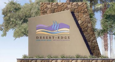 desert edge area sign