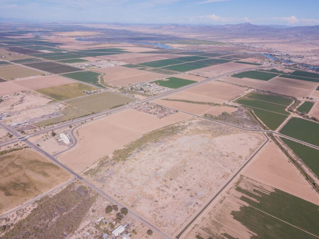 another angle of aerial image of of palo verde center business park