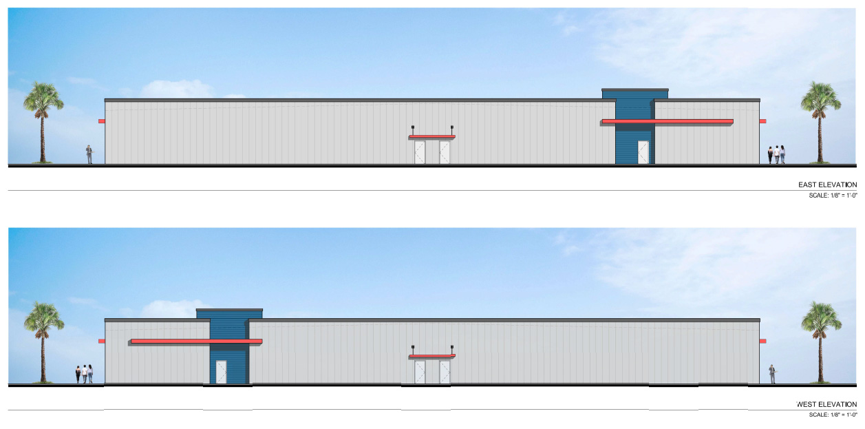 east and west elevation image of of palo verde center business park
