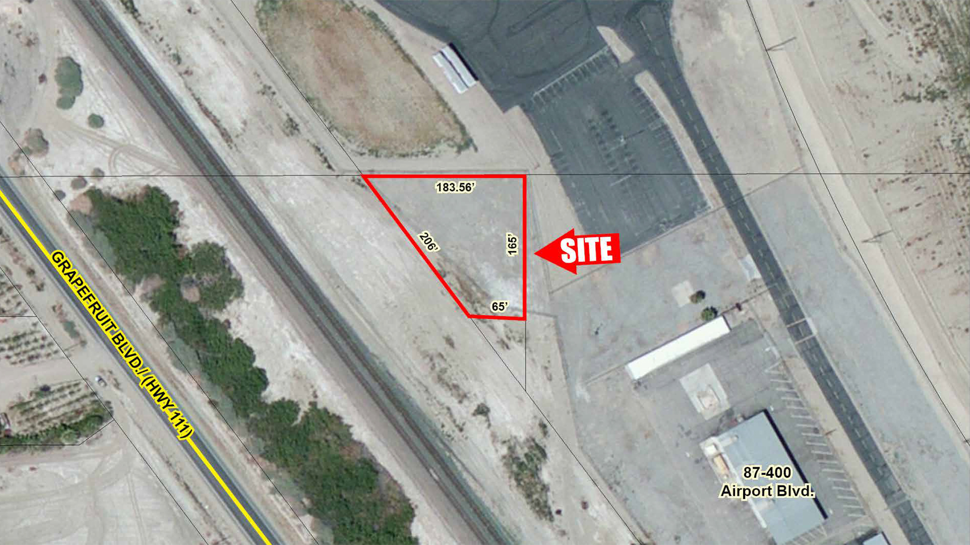 0.47 AC North Airport Blvd, Thermal Zoomed Aerial Web