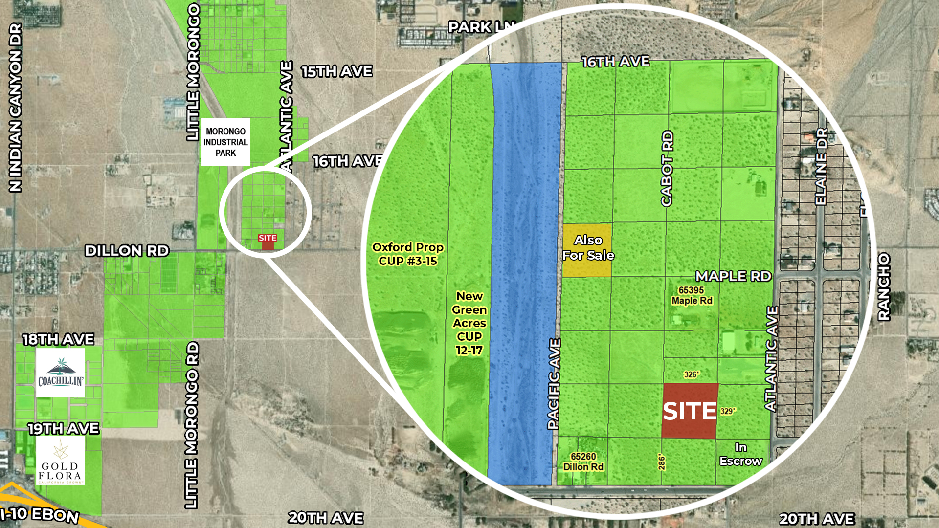 2.48 AC E Cabot Rd, DHS Zoomed Aerial Map Web